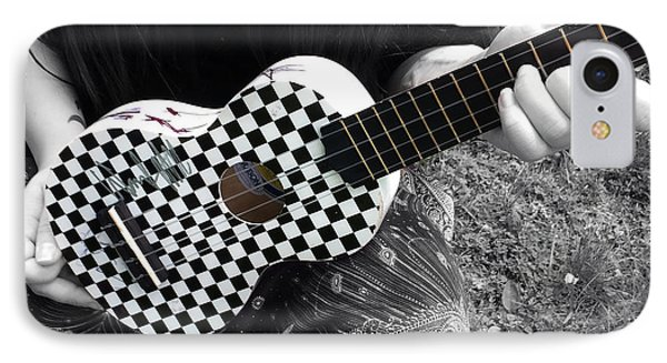 The Checkered Uke IPhone Case