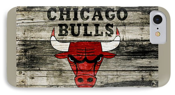 The Chicago Bulls Wood Art IPhone Case