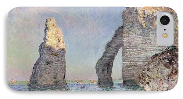 Impressionism iPhone 8 Case - The Cliffs At Etretat by Claude Monet