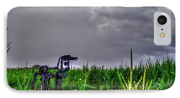 The Corn Is Up The Iron Horse Collection Art IPhone Case