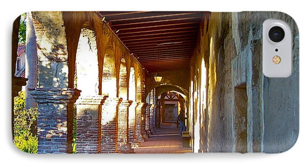 The Corridor By The Serra Chapel San Juan Capistrano Mission California IPhone Case