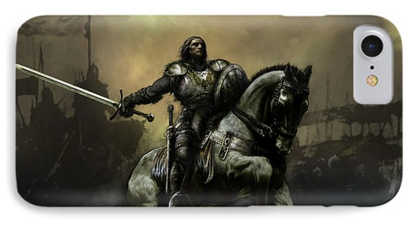Knight iPhone 8 Case - The Defiant by David Willicome