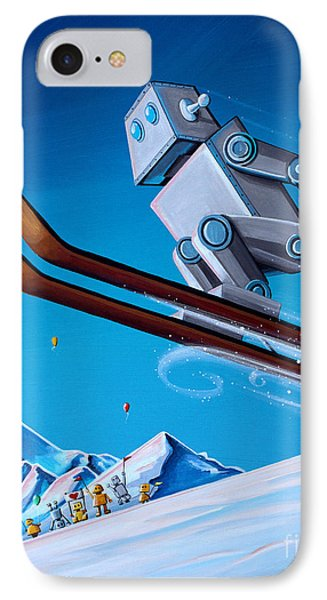 The Downhill Race IPhone Case