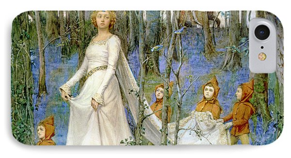 Elf iPhone 8 Case - The Fairy Wood by Henry Meynell Rheam