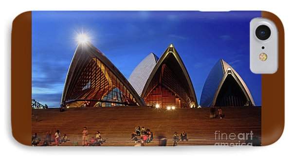 IPhone Case featuring the photograph The Forecourt Sydney Opera House By Kaye Menner by Kaye Menner