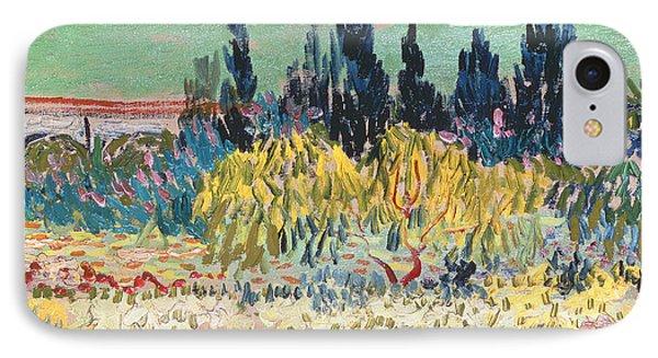 Garden iPhone 8 Case - The Garden At Arles  by Vincent Van Gogh