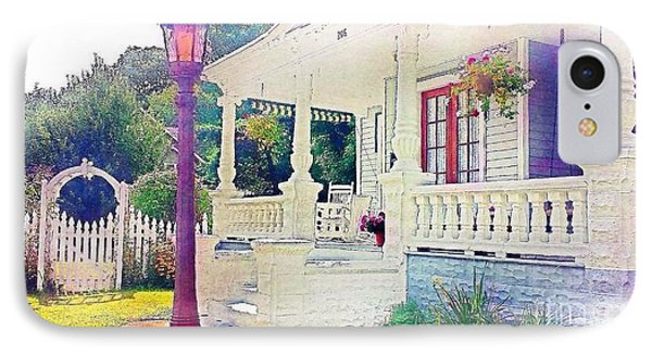 The Gate Porch And The Lamp Post IPhone Case