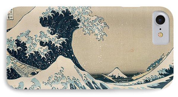 Print iPhone 8 Case - The Great Wave Of Kanagawa by Hokusai