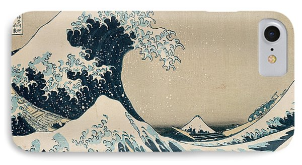 Sky iPhone 8 Case - The Great Wave Of Kanagawa by Hokusai