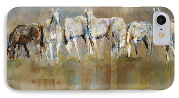 Horse iPhone 8 Case - The Horizon Line by Frances Marino