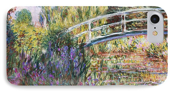 Impressionism iPhone 8 Case - The Japanese Bridge by Claude Monet