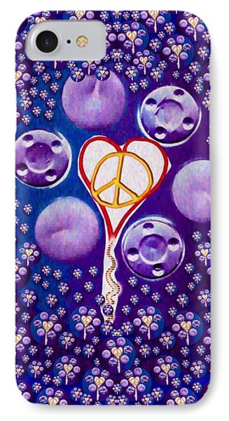 The Key To Love Is Peace And Love Popart IPhone Case