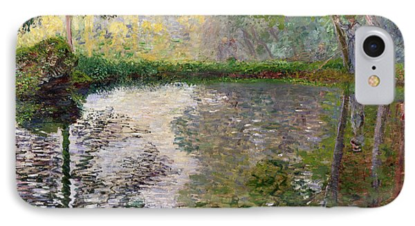Impressionism iPhone 8 Case - The Lake At Montgeron by Claude Monet