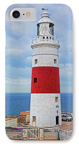 The Lighthouse At Europa Point IPhone Case