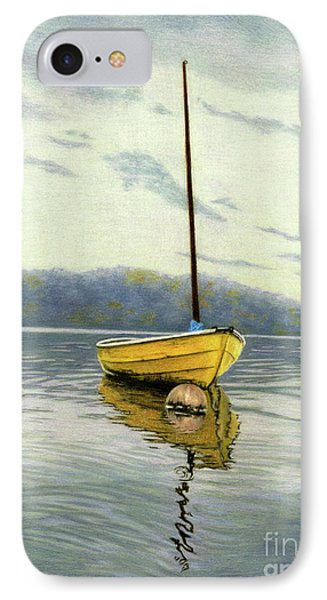 The Yellow Sailboat IPhone Case