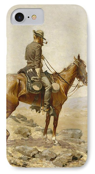 Horse iPhone 8 Case - The Lookout by Frederic Remington