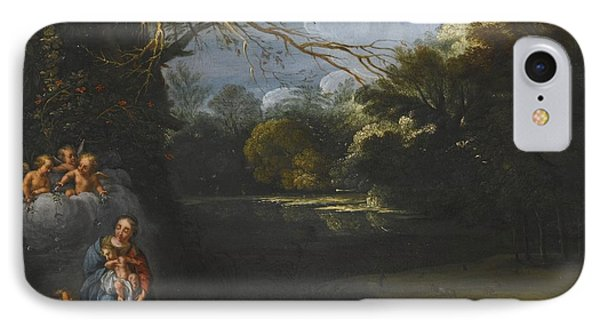 The Madonna And Child In A Landscape IPhone Case