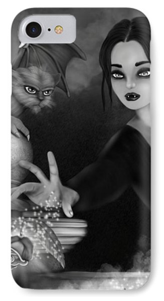 The Magic Rose - Black And White Fantasy Art IPhone Case