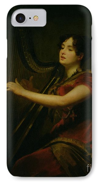 The Marchioness Of Northampton Playing A Harp IPhone Case