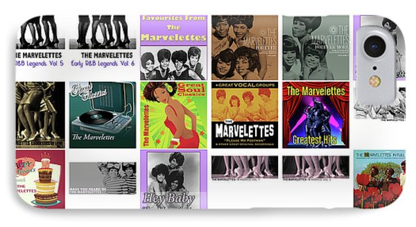 Rhythm And Blues iPhone 8 Case - The Marvelettes 1 by Smart Aviation