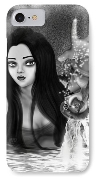 The Missing Key - Black And White Fantasy Art IPhone Case