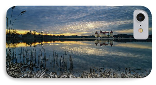 The Moritzburg Castle Is A Baroque Palace In Moritzburg In The German State Of Saxony. Saxony, Germany. IPhone Case