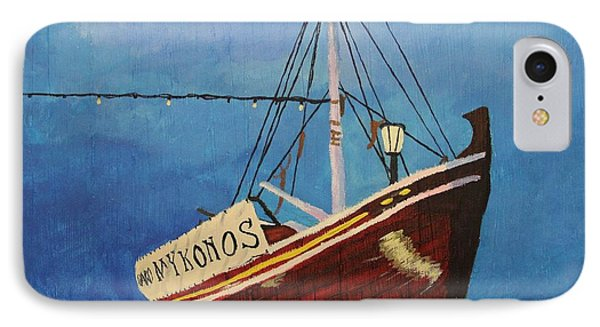 The Mykonos Boat IPhone Case