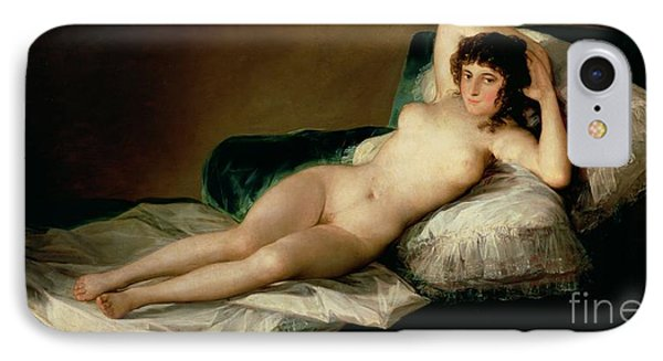 Nudes iPhone 8 Case - The Naked Maja by Goya