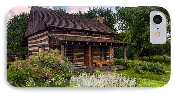 The Old Log Home  IPhone Case