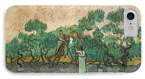 Impressionism iPhone 8 Case - The Olive Pickers by Vincent van Gogh