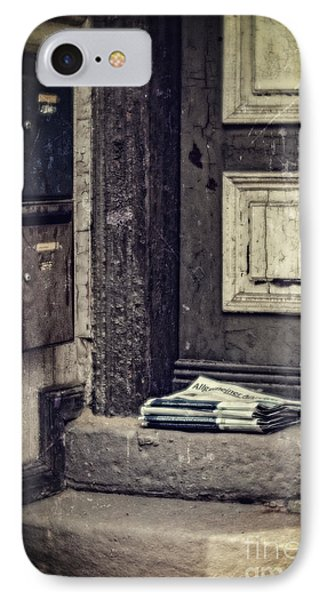 The Paper Boy Was There. IPhone Case