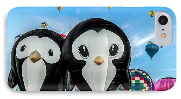 Puddles And Splash - The Penguin Hot Air Balloons IPhone Case