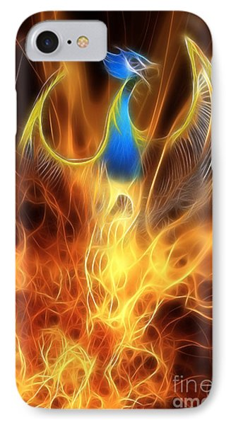 Dragon iPhone 8 Case - The Phoenix Rises From The Ashes by John Edwards