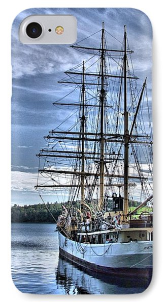 The Picton Castle Docked In Lunenburg IPhone Case