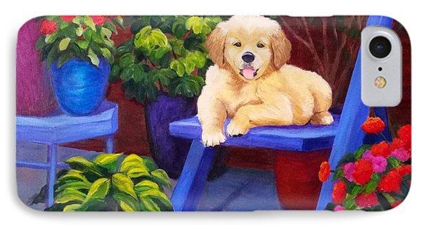 The Puppy In The Garden IPhone Case