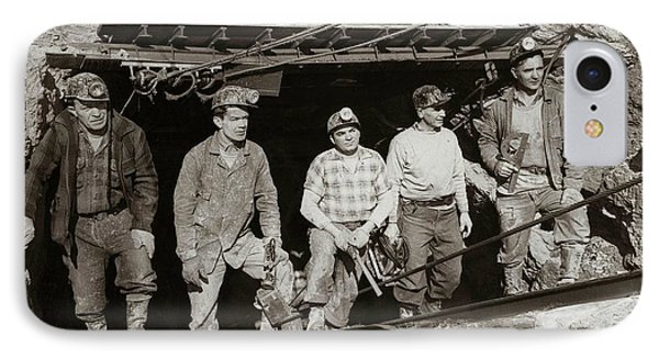 The Search And Retrieval Team After The Knox Mine Disaster Port Griffith Pa 1959 At Mine Entrance IPhone Case