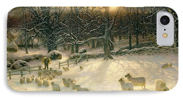 Sheep iPhone 8 Case - The Shortening Winters Day Is Near A Close by Joseph Farquharson