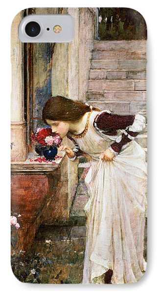 Rose iPhone 8 Case - The Shrine by John William Waterhouse