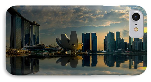 The Singapore Skyline IPhone Case
