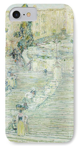 Spanish Steps IPhone 8 Case   The Spanish Stairs, Rome, 1897 By Childe  Hassam