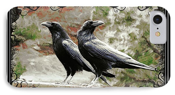 The Spooky Ravens IPhone Case