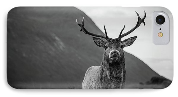 Scotland iPhone 8 Case - The Stag.  by Mark Mc neill
