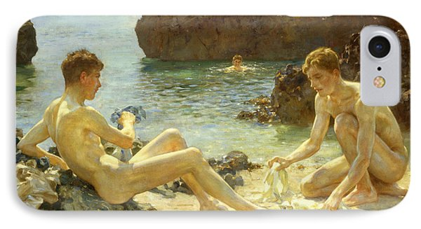 Nudes iPhone 8 Case - The Sun Bathers by Henry Scott Tuke