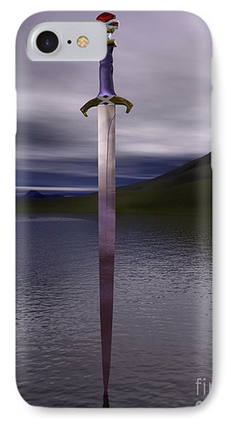 The Sword Excalibur On The Lake IPhone Case