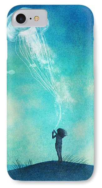 Sky iPhone 8 Case - The Thing About Jellyfish by Eric Fan
