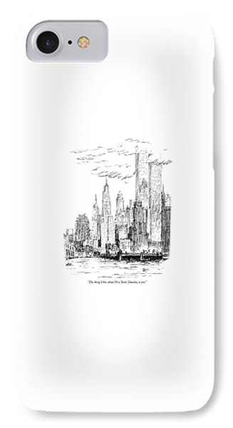 The Thing I Like About New York IPhone Case