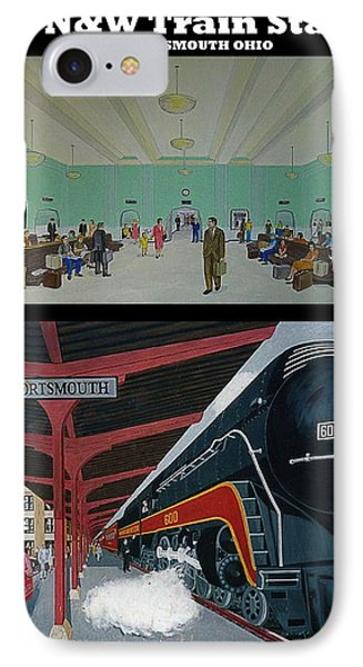 The Train Station At Portsmouth Ohio IPhone Case