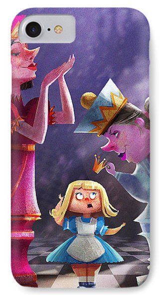 The Two Queens, Nursery Art IPhone Case