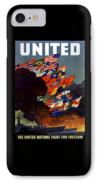 The United Nations Fight For Freedom IPhone Case