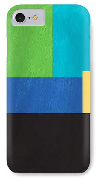 Shapes iPhone 8 Case - The View From Here- Modern Abstract by Linda Woods